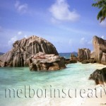 """WOMAN ON ROCK"" Seychelles"