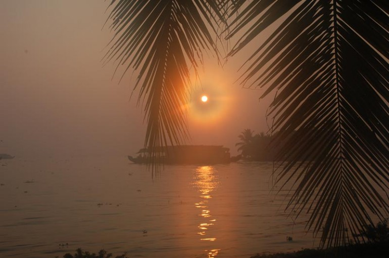 Sunrise on the backwaters